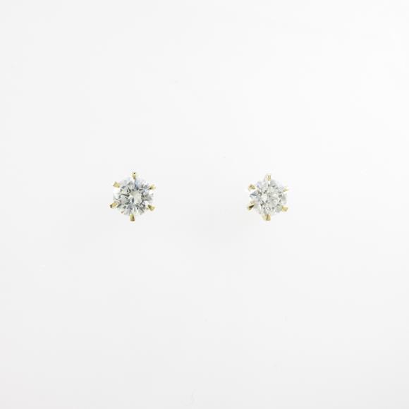 【リメイク】K18YG/ST ダイヤモンドピアス 0.302ct・0.325ct・H・SI1・VG【中古】