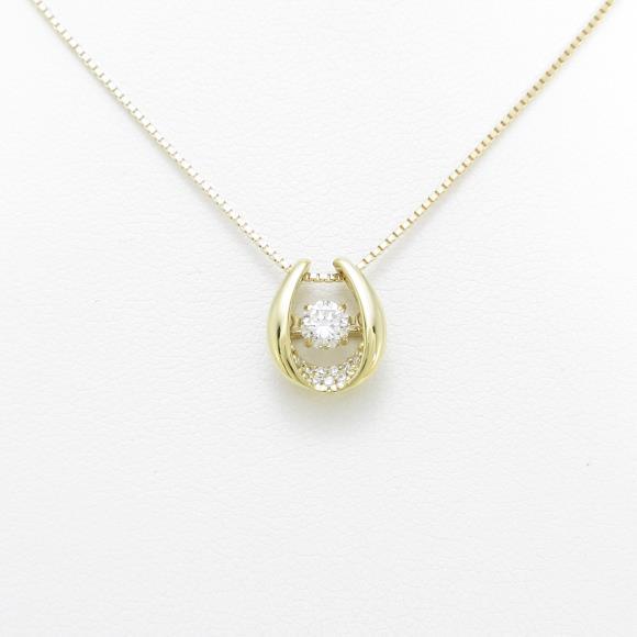 【新品】K18YG ダイヤモンドネックレス 0.223ct・H・SI1・GOOD【新品】
