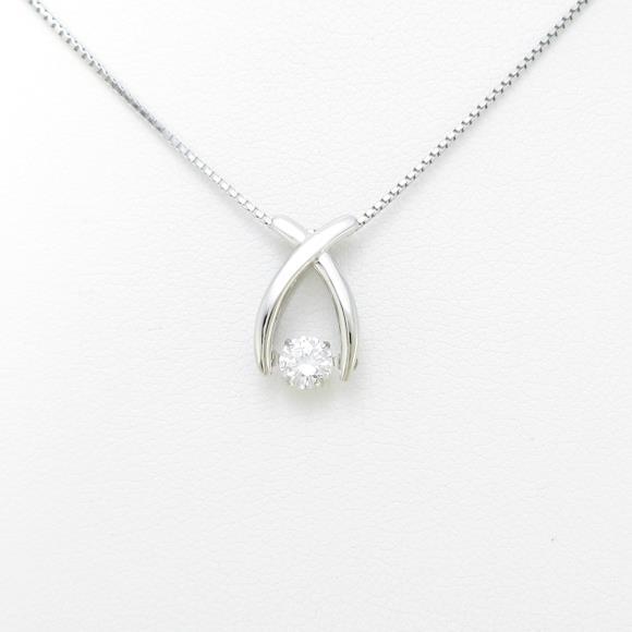 【新品】プラチナダイヤモンドネックレス 0.213ct・E・SI2・GOOD【新品】