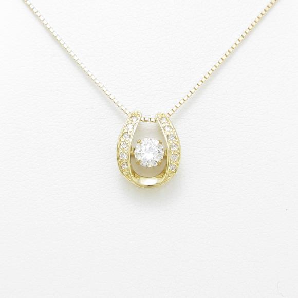 【新品】K18YG ダイヤモンドネックレス 0.318ct・G・SI2・VERYGOOD【新品】