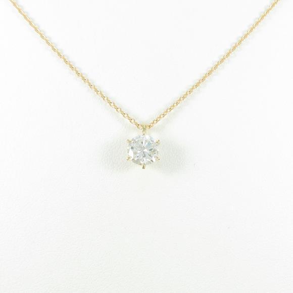 【リメイク】K18YG ダイヤモンドネックレス 0.642ct・H・SI2・GOOD【中古】
