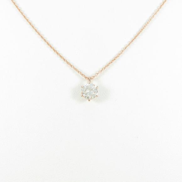 【リメイク】K18PG ダイヤモンドネックレス 0.414ct・J・SI1・GOOD【中古】