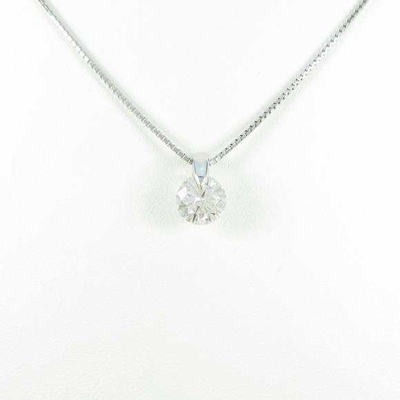 【リメイク】プラチナダイヤモンドネックレス 1.527ct・I・I1・GOOD【中古】