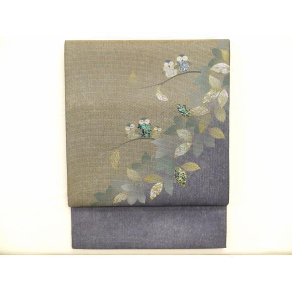 越前和紙織【中古】 【未使用品】袋帯