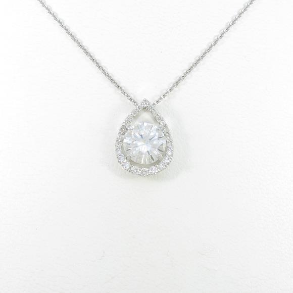 【リメイク】プラチナダイヤモンドネックレス 2.022ct・E・SI2・GOOD【中古】