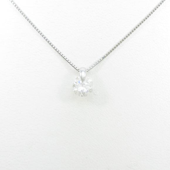 【リメイク】プラチナダイヤモンドネックレス 1.022ct・H・SI2・GOOD【中古】