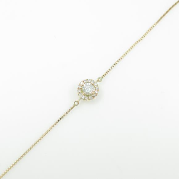 K10YG ダイヤモンドブレスレット【中古】
