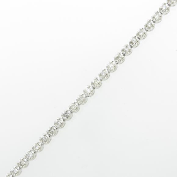 K18WG ダイヤモンドブレスレット【中古】