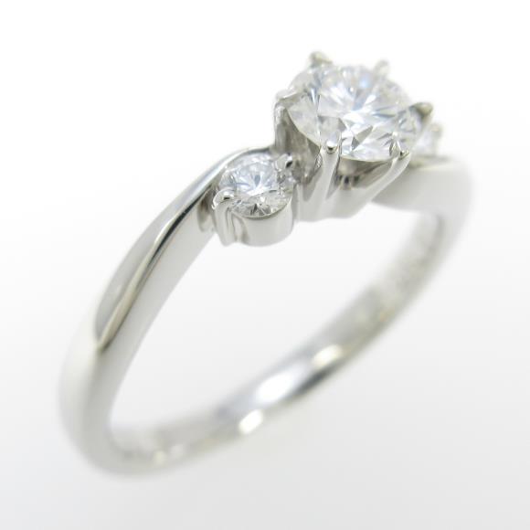 ロイヤル アッシャー ダイヤモンドリング 0.32ct・G・VS1【中古】