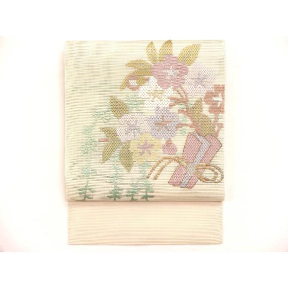 夏名古屋帯 絽綴織【中古】