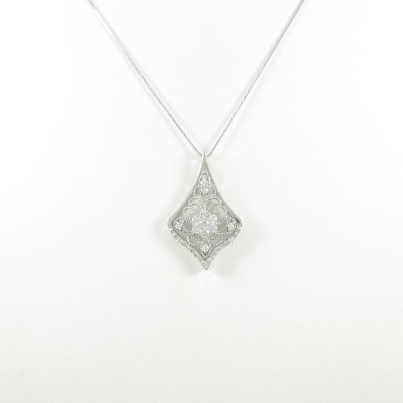 K18WG ダイヤモンドネックレスN0nOm8Pyvw