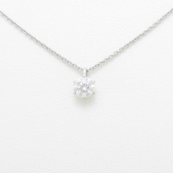 【リメイク】プラチナダイヤモンドネックレス 0.314ct・D・VVS2・EX H&C【中古】