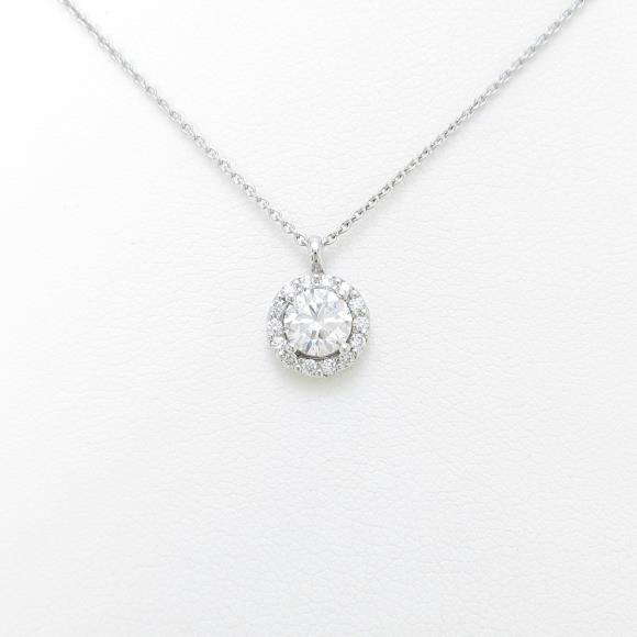 【リメイク】プラチナダイヤモンドネックレス 0.512ct・E・SI2・GOOD【中古】