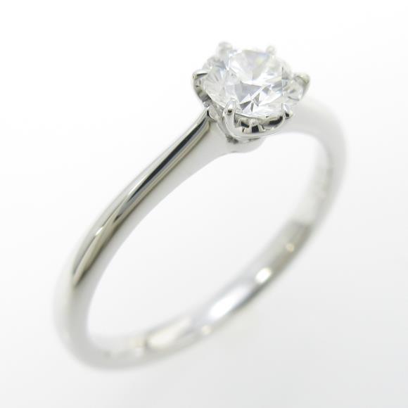 【リメイク】PT ダイヤモンドリング 0.308ct・E・VS2・VERYGOOD【中古】