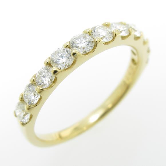 【新品】K18YG ハーフエタニティ ダイヤモンドリング【新品】