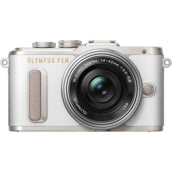 【新品】OLYMPUS E-PL8(14-42)KIT ホワイト:【中古】