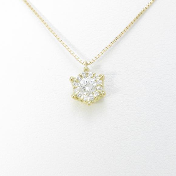 【新品】K18YG ダイヤモンドネックレス 0.270ct・G・SI1・GOOD【新品】