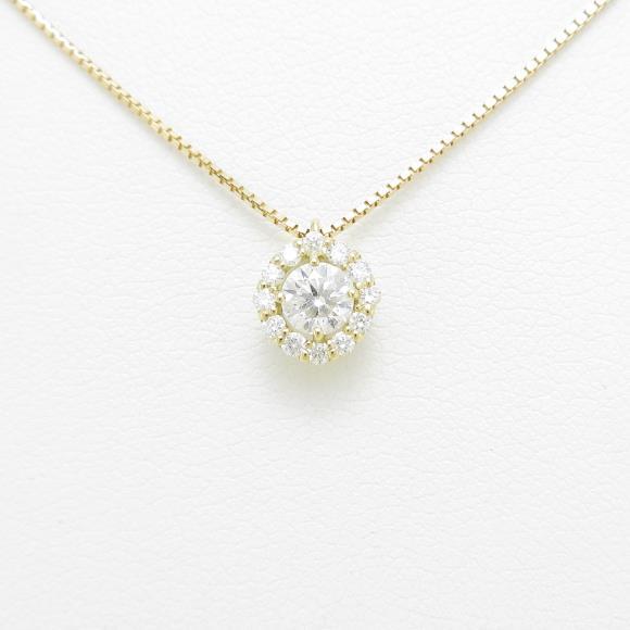 【新品】K18YG ダイヤモンドネックレス 0.268ct・F・SI2・VERYGOOD【新品】