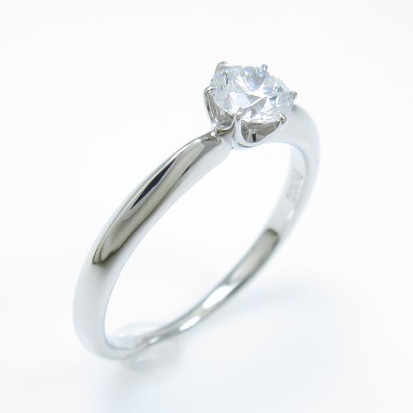 プラチナダイヤモンドリング 0.309ct・D・SI1・EXCELLENT【中古】