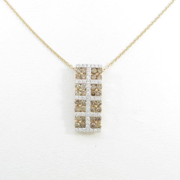 K18PG/K18WG ダイヤモンドネックレス【中古】