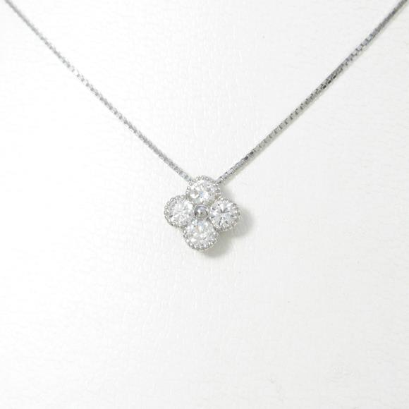 【新品】プラチナダイヤモンドネックレス 0.504ct・E・SI1-2・GOOD【新品】