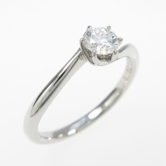 ロイヤル アッシャー ダイヤモンドリング 0.27ct・E・VS1【中古】