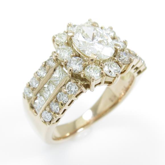K18YG ダイヤモンドリング 0.592ct・I・SI2【中古】