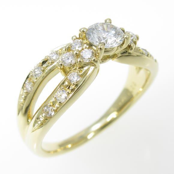 【リメイク】K18YG ダイヤモンドリング 0.300ct・G・SI2・GOOD【中古】