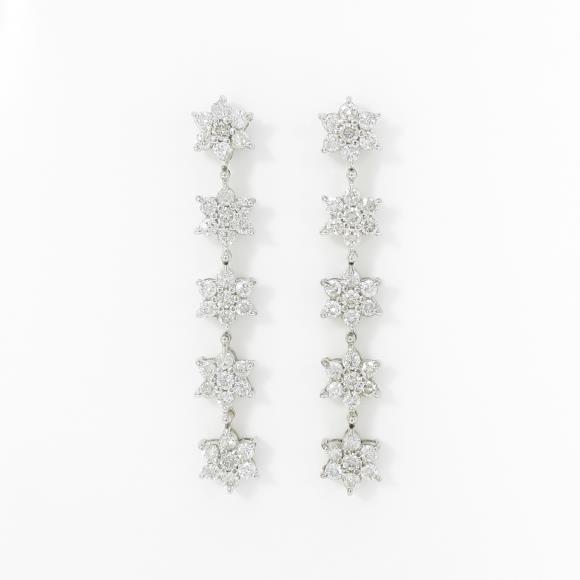 K18WG/K14WG ダイヤモンドピアス【中古】