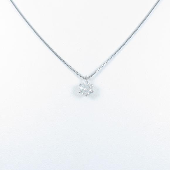プラチナダイヤモンドネックレス 0.486ct・H・SI2・EXCELLENT H&C【中古】
