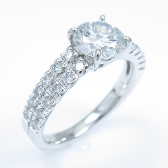 【リメイク】プラチナダイヤモンドリング 1.025ct・G・SI1・VERYGOOD【中古】