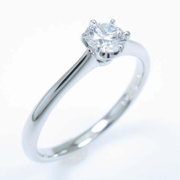 【リメイク】プラチナダイヤモンドリング 0.308ct・D・VVS1・EXT【中古】