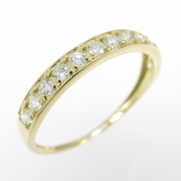 【リメイク】K18YG ハーフエタニティ ダイヤモンドリング【中古】, ギフトプラザ フレンド:78a37f1b --- m2cweb.com