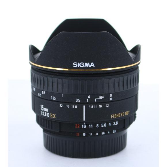 SIGMA ニコン15mm F2.8EX FISHEYE【中古】