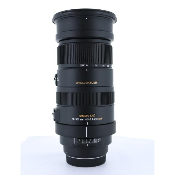 SIGMA ニコン50-500mm F4.5-6.3DGOSHSM【中古】
