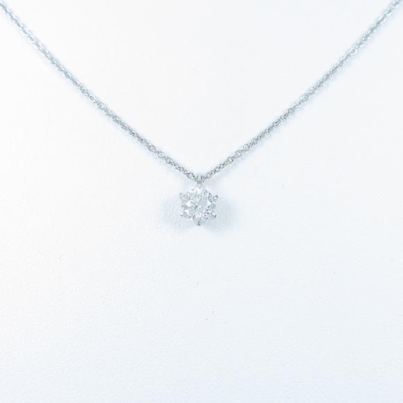 【リメイク】プラチナダイヤモンドネックレス 0.305ct・E・SI2・GOOD【中古】