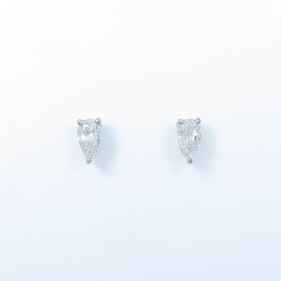 プラチナダイヤモンドピアス 0.318ct・0.357ct・F・VVS2・ペアシェイプ【中古】