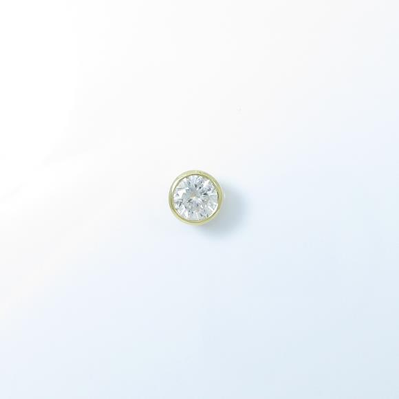 【リメイク】K18YG ダイヤモンドピアス 0.408ct・H・I1・VERYGOOD【中古】