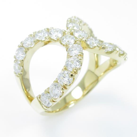 【新品】K18YG ダイヤモンドリング 1.851ct・F-G・VS2-SI2・EXT-G【新品】