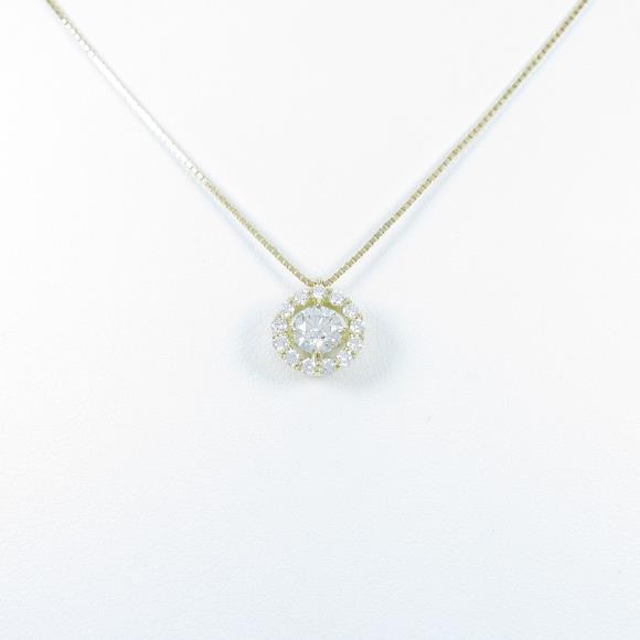 【新品】K18YG ダイヤモンドネックレス 0.466ct・H・SI2・VG【新品】