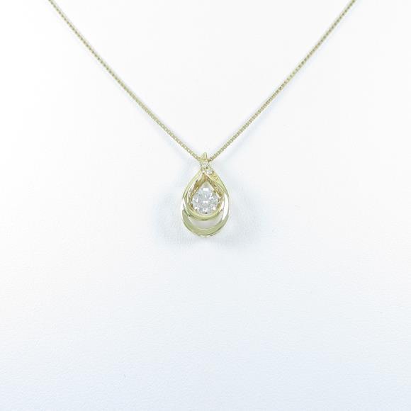 【新品】K18YG ダイヤモンドネックレス 0.364ct・H・SI2・VERYGOOD【新品】