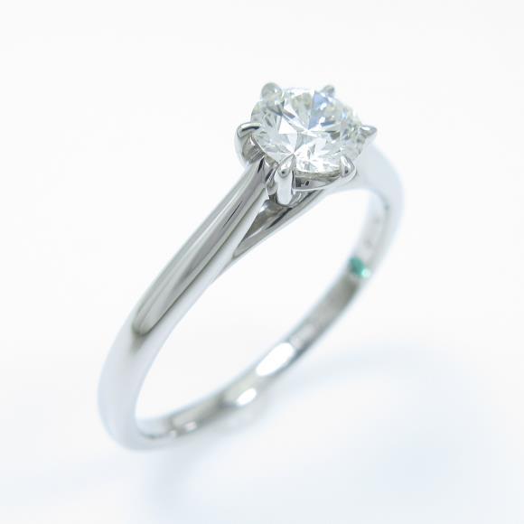 プラチナダイヤモンドリング 0.318ct・I・SI1・3EXT・H&C【中古】