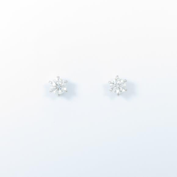 【リメイク】ST/プラチナダイヤモンドピアス 0.217ct・0.223ct・E-F・VVS1・3EXT H&C【中古】