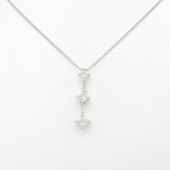 14KWG ダイヤモンドネックレス【中古】