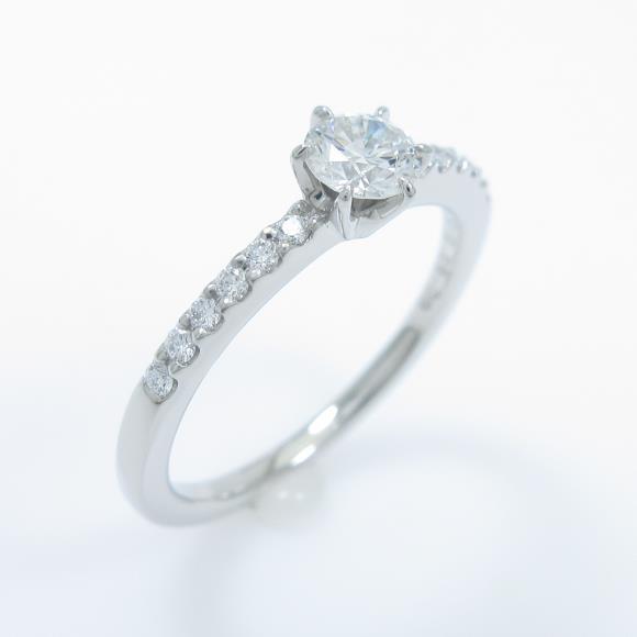 ロイヤル アッシャー ダイヤモンドリング 0.25ct・G・VS1【中古】