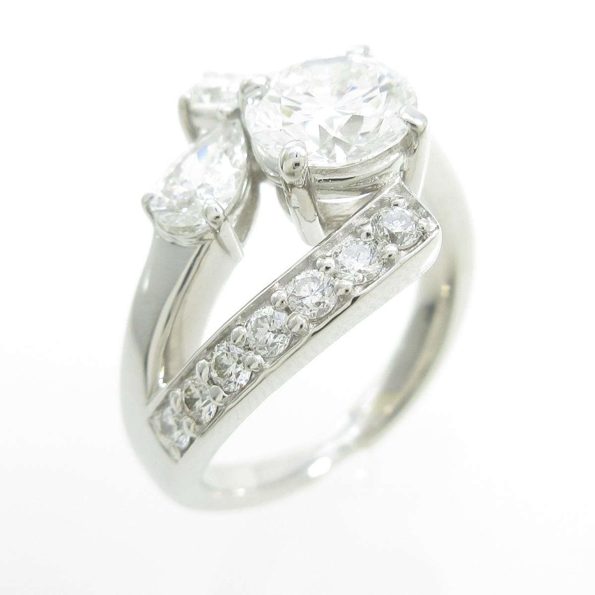 プラチナダイヤモンドリング 1.100ct・D・SI2・EXT【中古】