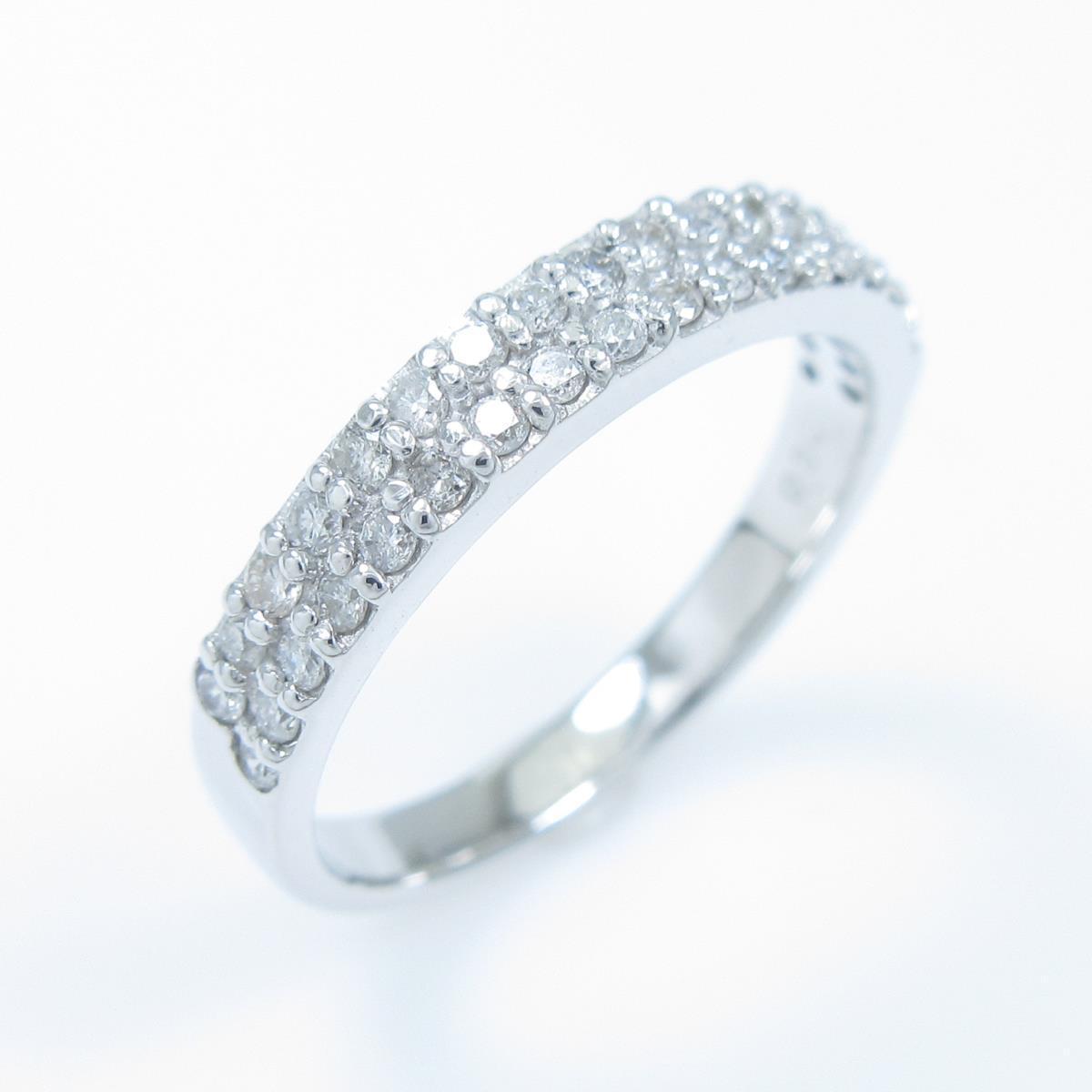 K18WG K18WG ハーフエタニティ ダイヤモンドリング【中古】, ケロポンズ公式ショップ:c03e7a19 --- m2cweb.com