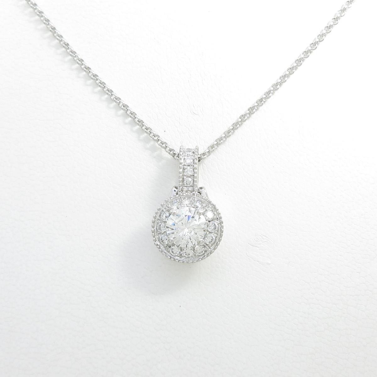 プラチナダイヤモンドネックレス 1.025ct・G・SI2・GOOD【中古】