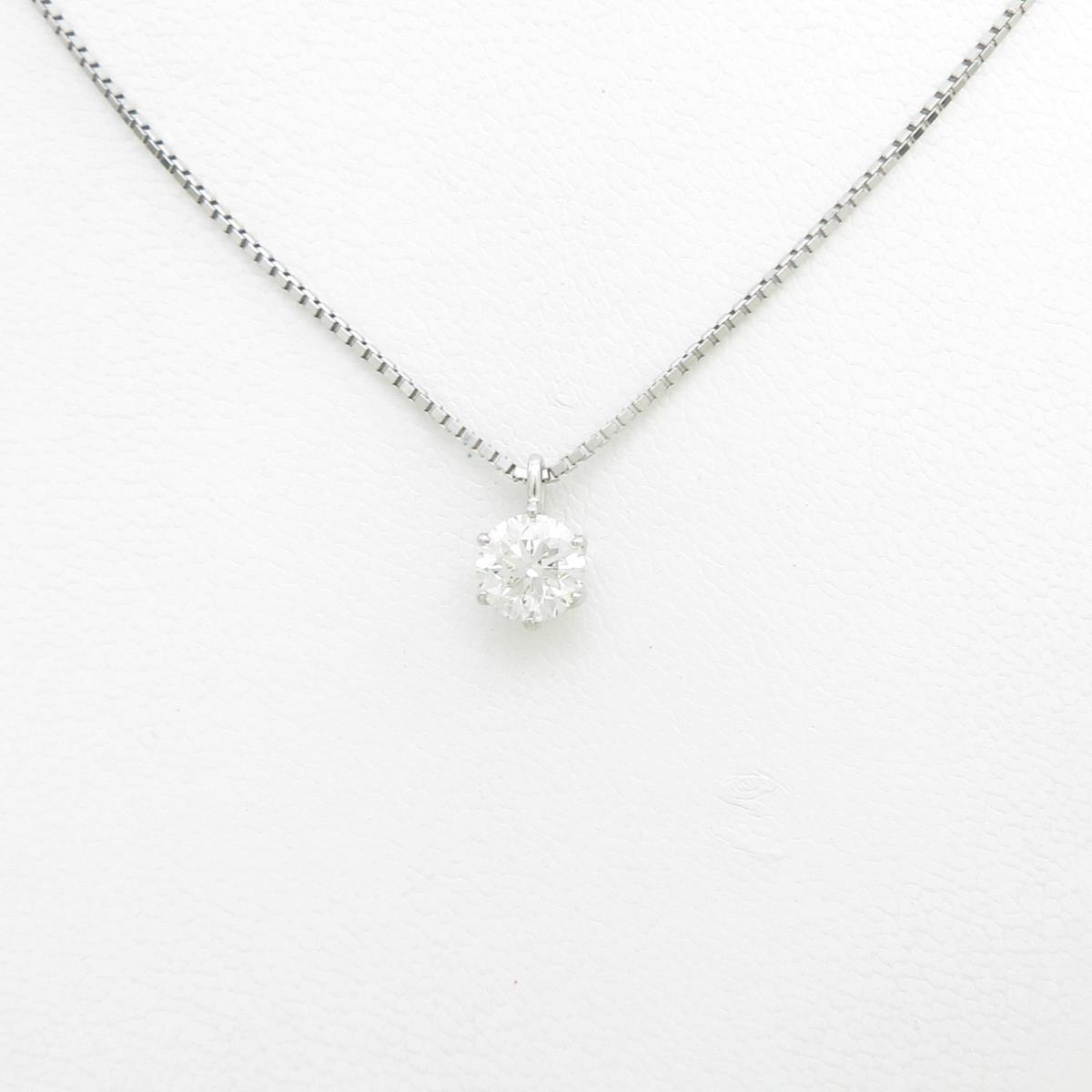 プラチナダイヤモンドネックレス 1.004ct・H・SI2・GOOD【中古】