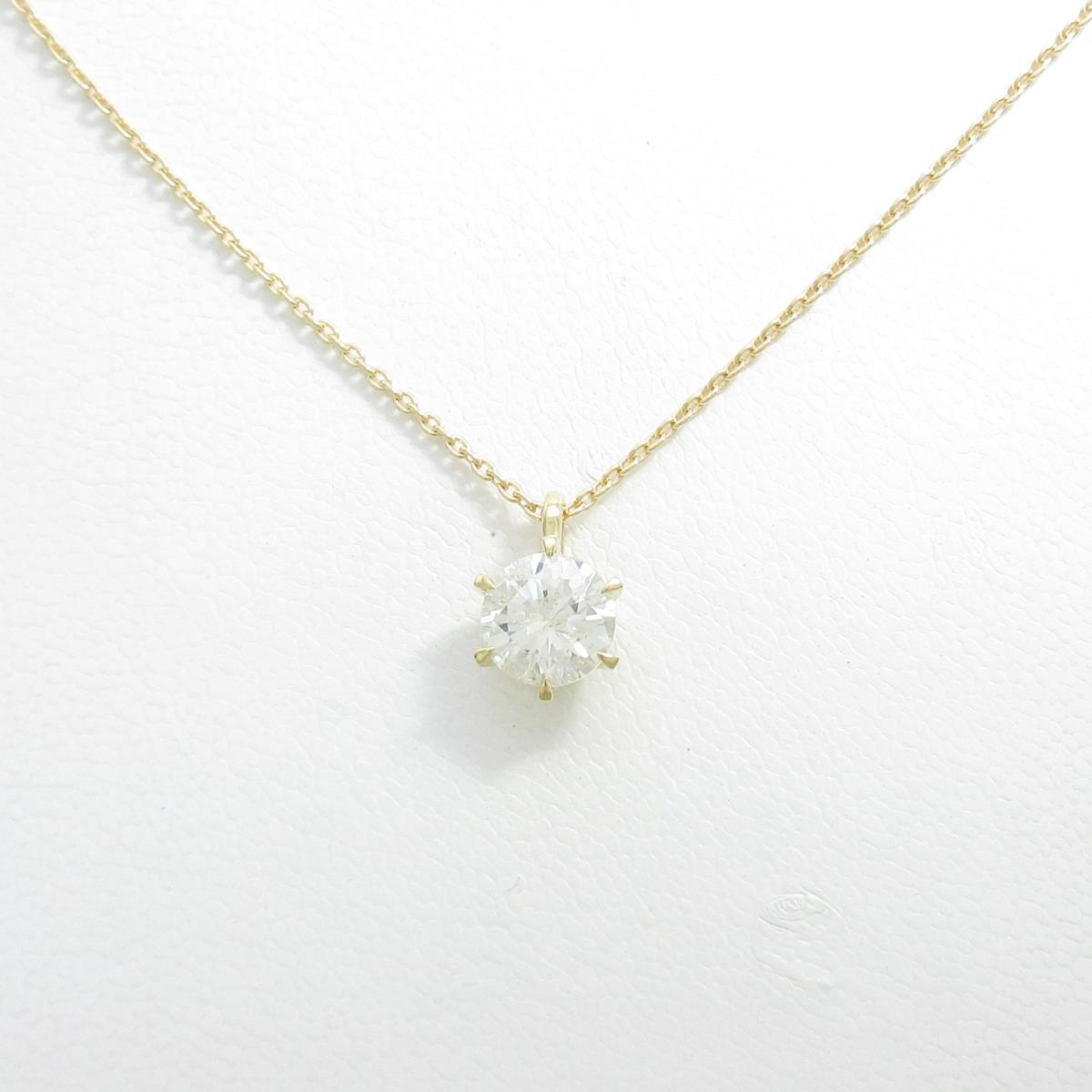 【リメイク】K18YG ダイヤモンドネックレス 1.202ct・L・I1・GOOD【中古】